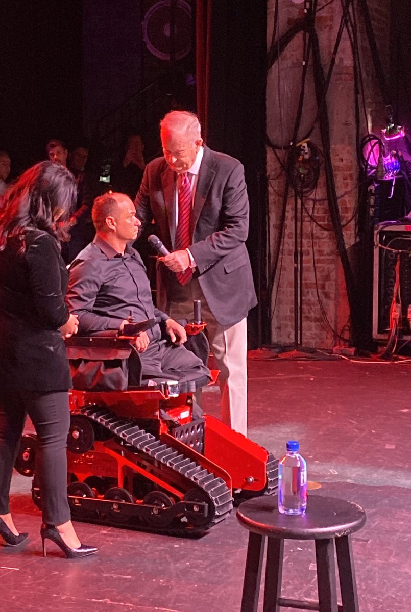 The mission continues... @BillOReilly and @IndyFund gave the 2433rd Track Chair to Army Staff Sgt Michael Minard who was injured on his 3rd tour in Iraq in 2007 last night in Huntington, NY.