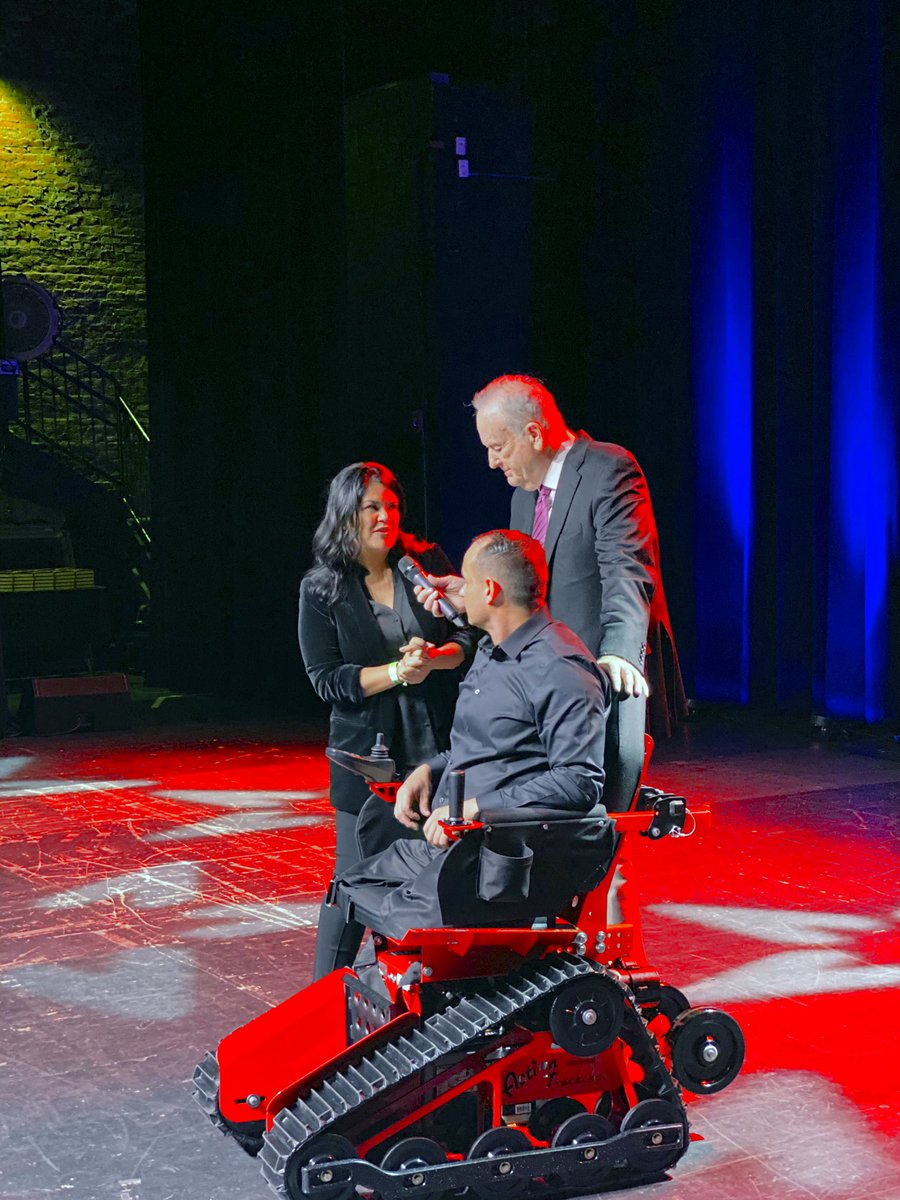 It was my honor to work with the @IndyFund to present Army Staff Sergeant Mike Minard with a track chair after he was severely injured during his third tour in Iraq. A true patriot.   To date, we have donated 2,433 track chairs to wounded veterans.