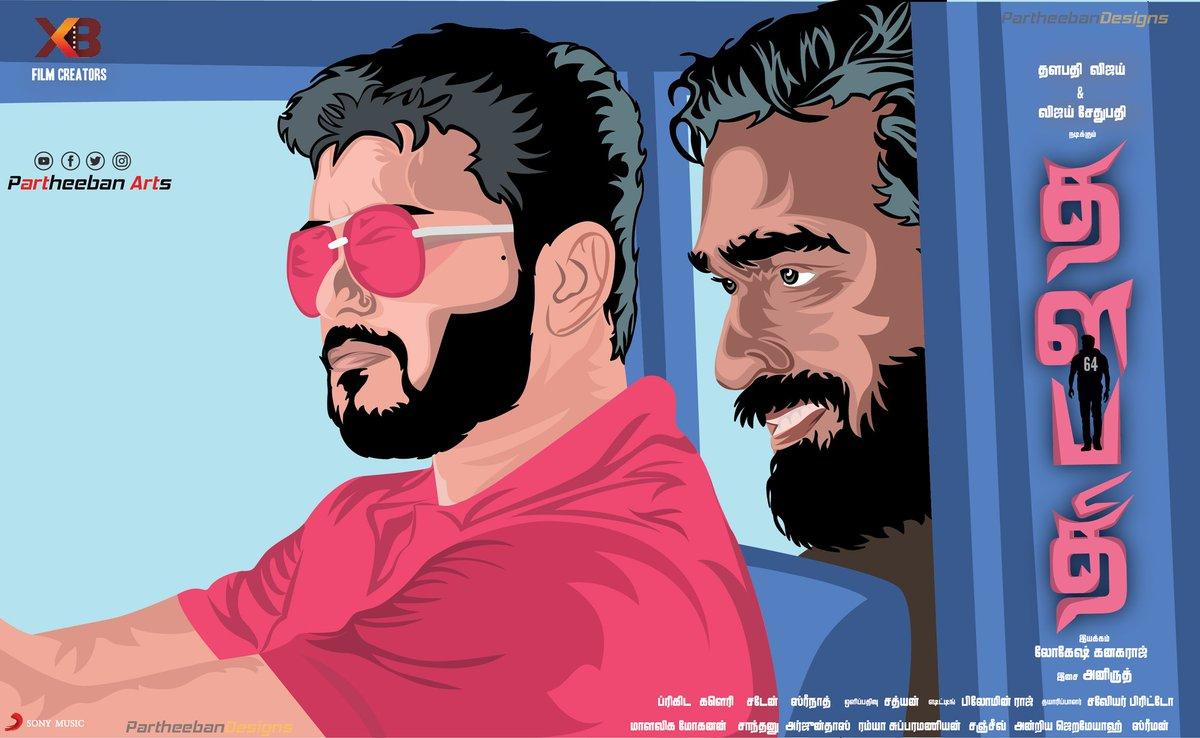 New illustration design for💕 #Thalapathy64 @actorvijay #27YrsOfKwEmperorVIJAY #27YrsOfSamratVIJAYCDP @VijaySethuOffl  @Dir_Lokesh @XBFilmCreators @XbFilm @RealBillDuke #partheebandesigns #posterdesign