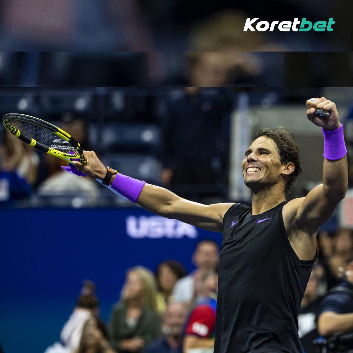 test Twitter Media - Introducing men's player of the season, Rafael Nadal! He's one title away from matching Federer atop the men's grand slam ladder with 20. Where does he rank among the greats?  #Tennis #Nadal #Federer #Djokovic #FrenchOpen #USOpen #Koretbet https://t.co/l7OvTUtEK5