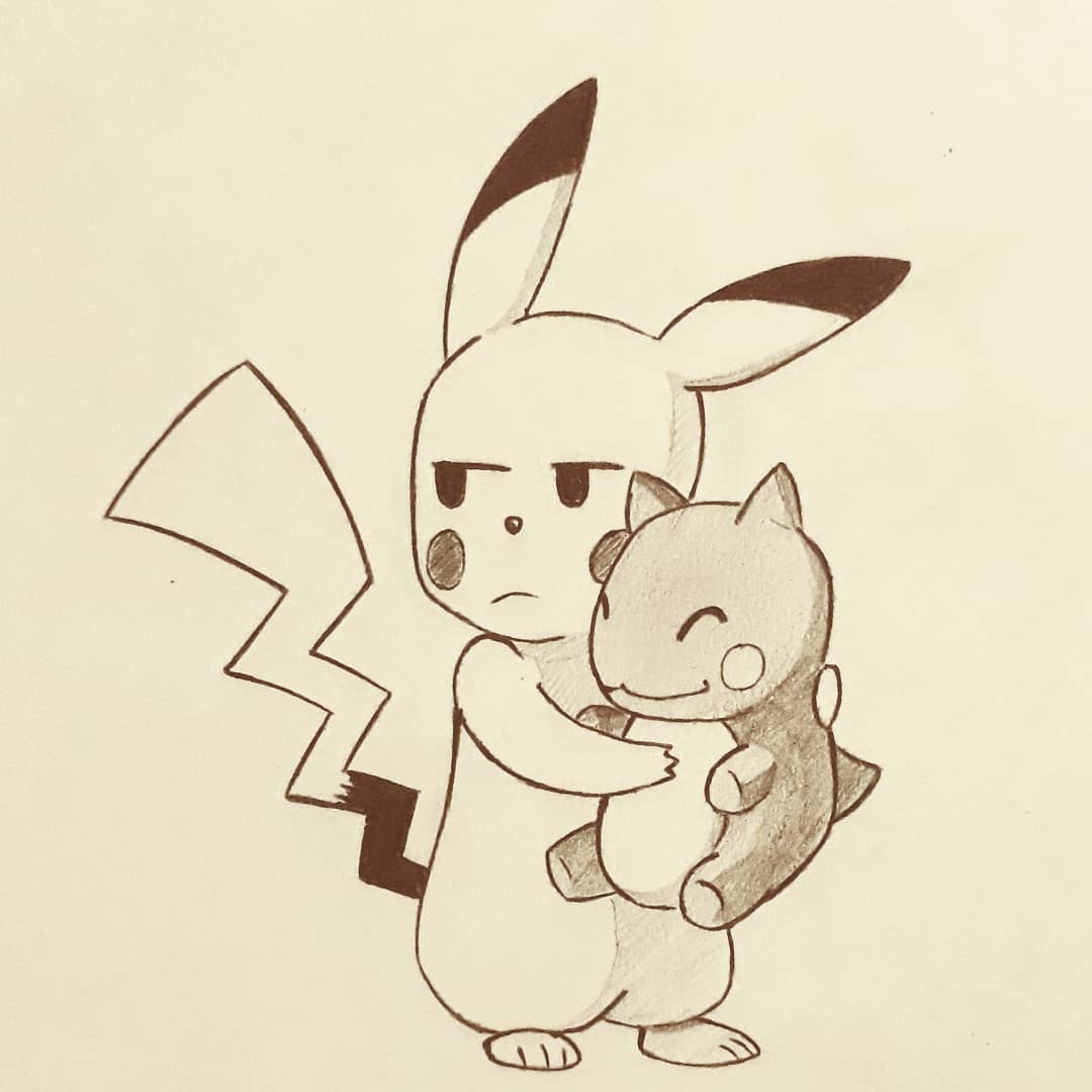17- favorito Electric type: Pikachu⚡  #inktober #pokemon #poketober