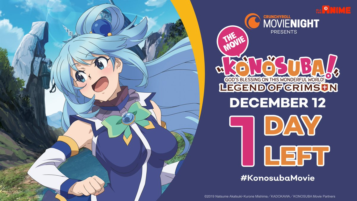 test Twitter Media - ONLY 1 MORE DAY! I can't wait!! #KonosubaMovie  💥 Tickets: https://t.co/B8ou64f2GY https://t.co/0zd6eGueHY