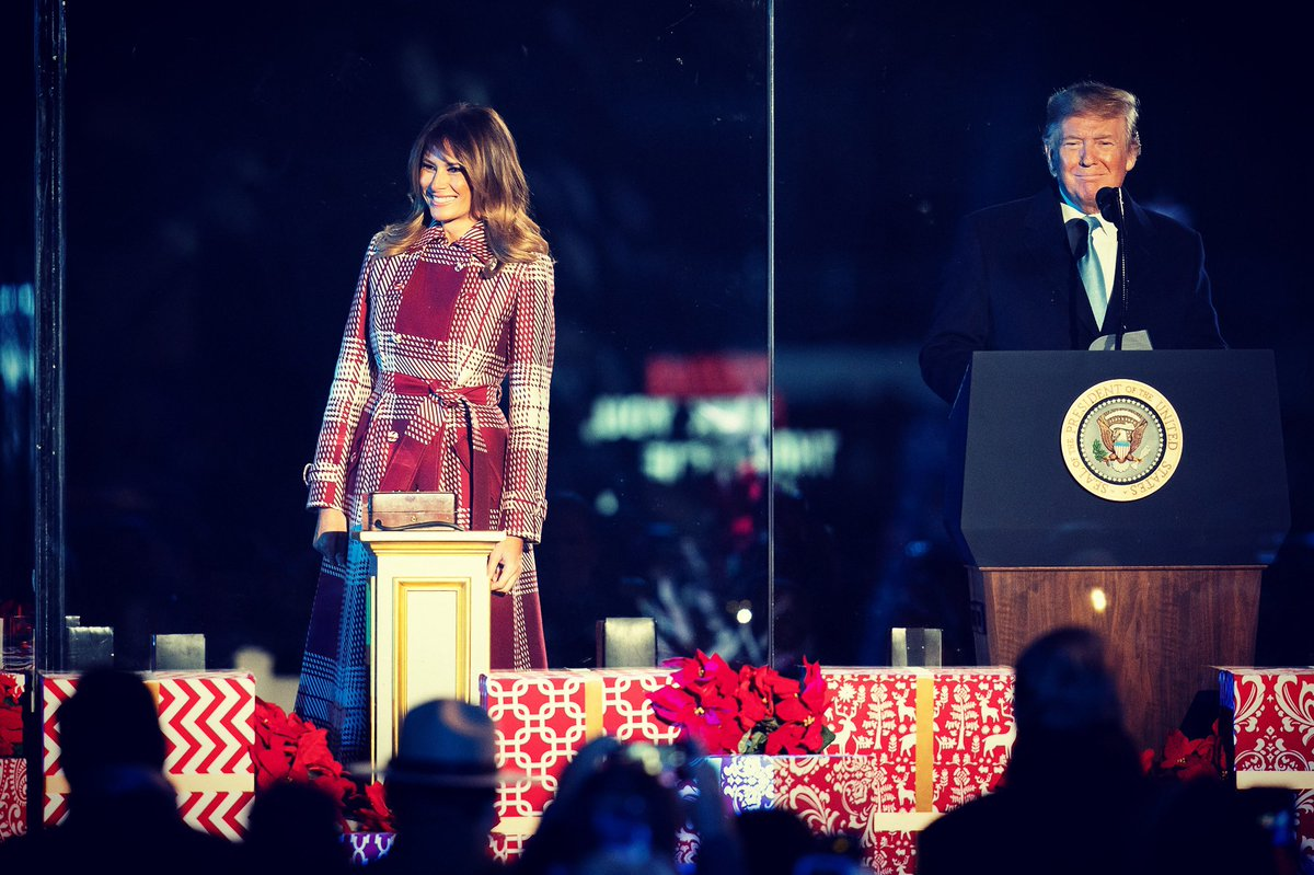 Another fun holiday tradition in our nation's capital! Tonight, @POTUS and I attended @TheNationalTree lighting in @PresParkNPS. Loved seeing everyone in the holiday spirit!