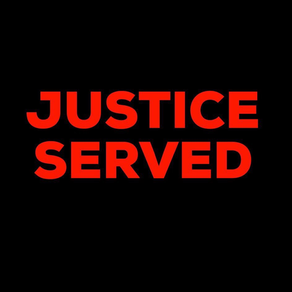 Justice served  May the fear spread  Hats off
