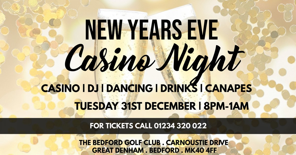 test Twitter Media - Dance your way into the new year at The Bedford Golf Club's Casino Night.  CASINO | DJ | DANCING | CANAPES | WELCOME DRINK  Tickets £20 (discount for members) CALL 01234 320 022 to buy your tickets  18+ EVENT https://t.co/PNjdixqxei