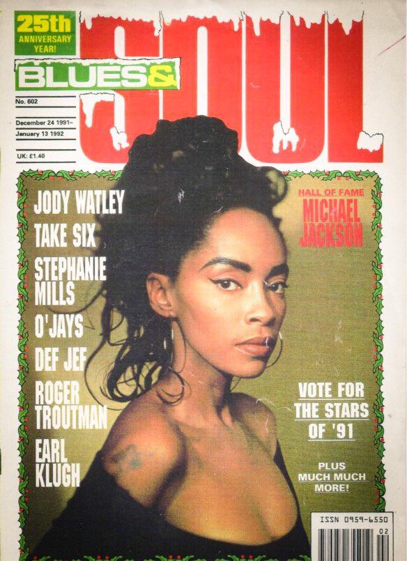 #FlashbackFriday   Blues & Soul, 1991 Christmas Issue    Photography by Guzman. #jodywatley #holidayseason #90s #music #style #classic