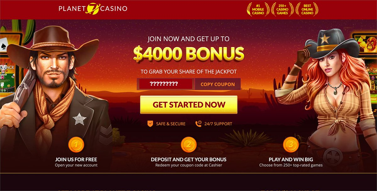 Get started at Planet 7 #casino today with a 400% #casinobonus to play all #slots!  🎰🚀 #bitcoin #onlinecasino #uscasino #usa #btc