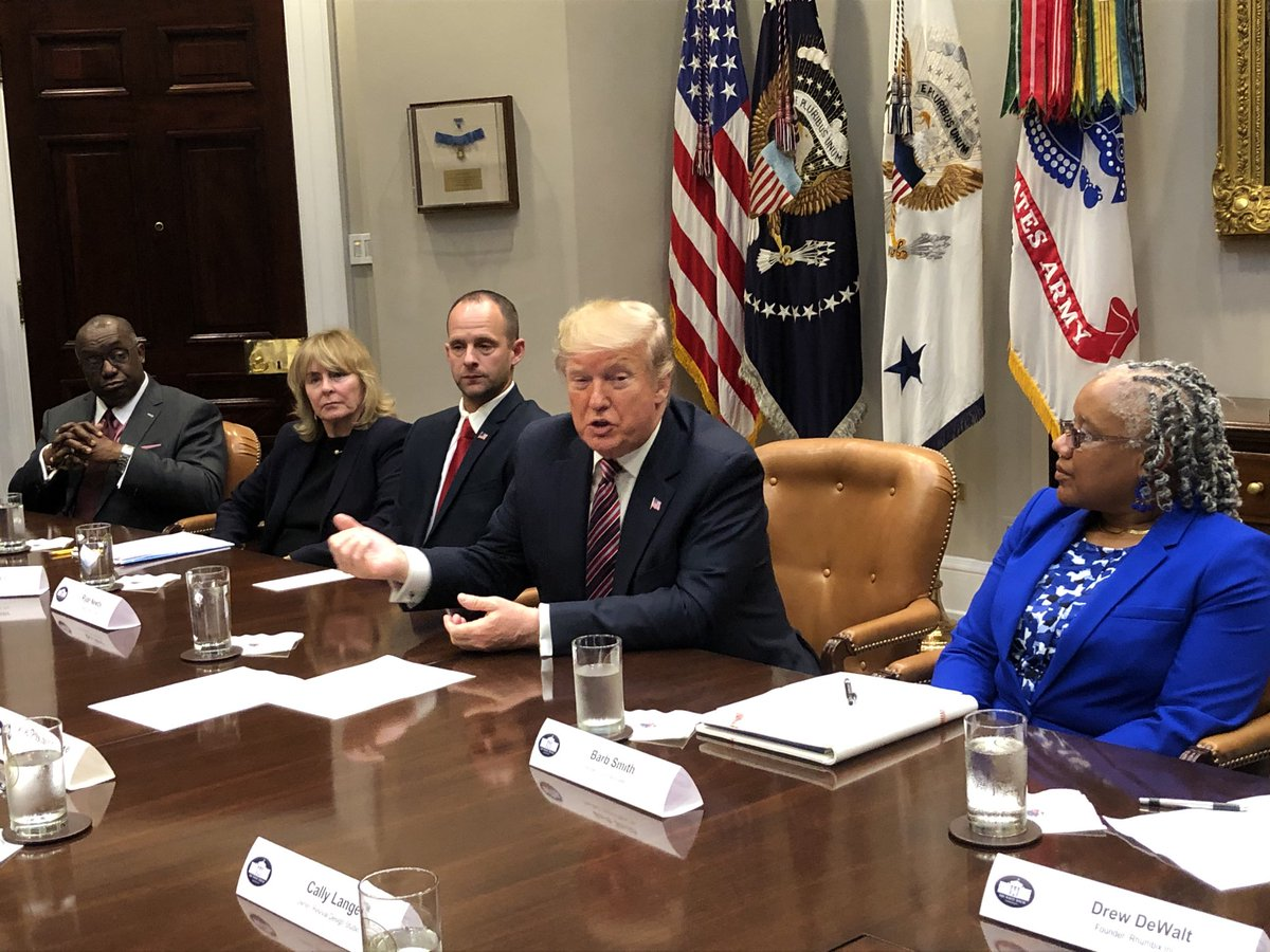 Trump expresses frustration about water efficiency, says sinks don't have enough pressure and people have to flush toilets multiple times. He says he has directed the EPA to look at opening up water standards. It's called rain, he says, referring to states with lots of water.
