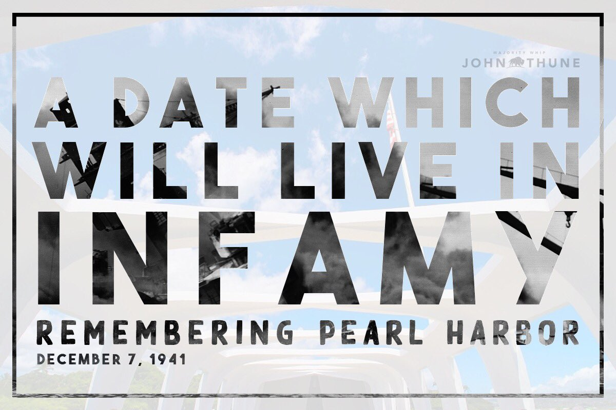 Seventy-eight years ago, the attack on #PearlHarbor took the lives of 2,400 Americans. Today, we remember and honor those brave Americans who made the ultimate sacrifice. #PearlHarbor78
