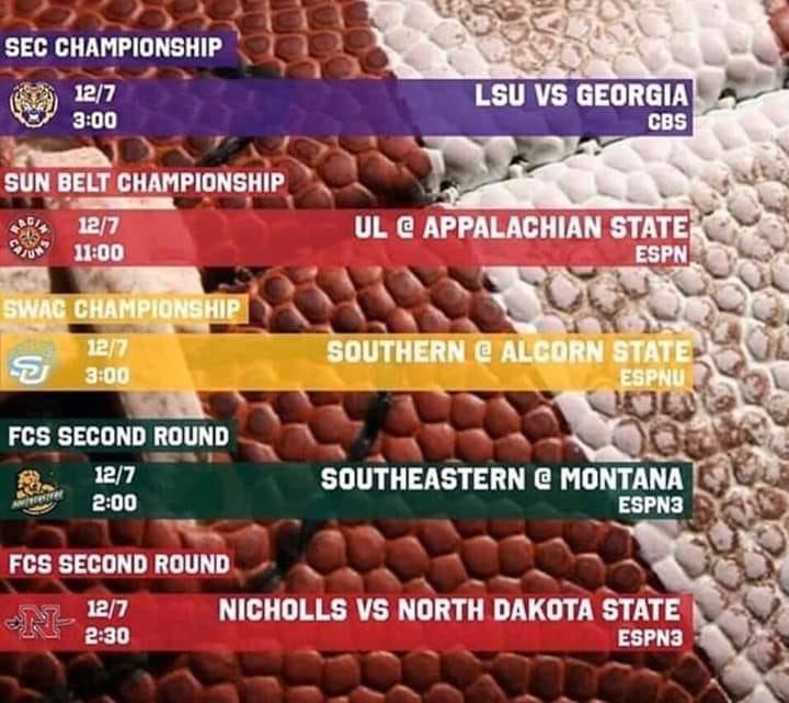 Big day for our Louisiana schools! Geaux @LSUsports @RaginCajuns @SouthernUsports @LionUpAthletics @GeauxColonels