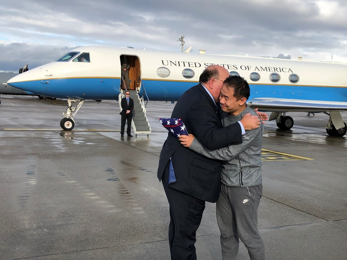 Thank you to the Swiss (@SwissMFA) for helping President Trump (@POTUS) deliver on his commitment to bringing all Americans home. @freeXiyueWang (1/2)
