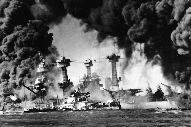 """Today we remember our dead from #PearlHarbor  FDR's speech asking for a declaration of war:  """"YESTERDAY, December 7, 1941 a date which will live in infamy the United States of America was suddenly and deliberately attacked by naval and air forces of the Empire of Japan."""""""
