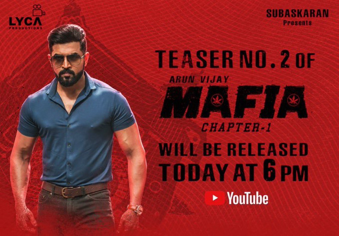 #MafiaTeaser2 today @6pm..🤗🤞@karthicknaren_M @LycaProductions @priya_Bshankar @Prasanna_actor @DoneChannel1