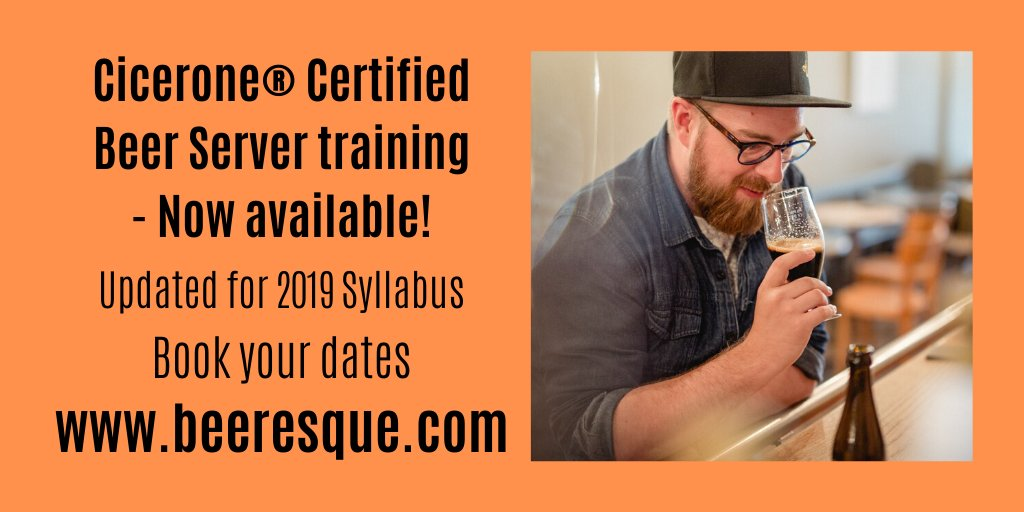 After 5+ years in the industry I've developed my own training program - now taking bookings for Cicerone® Certified Beer Server training!  I've created a 1 day workshop suited for anyone working in the beer, brewing and hospitality industries (and teams). 1/2 https://t.co/VZznfoDaaA