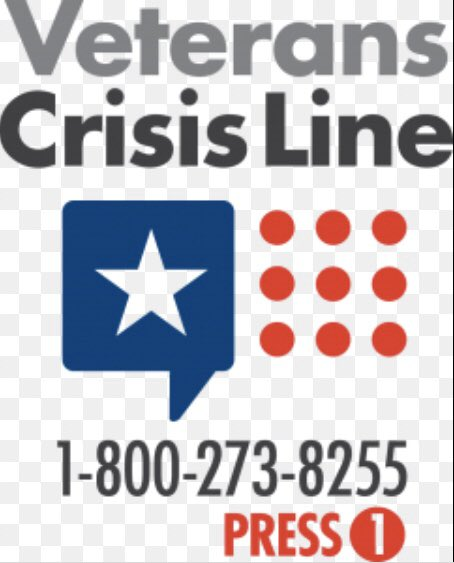 "This is the crisis hotline for everyone in the US, and if you then press ""1"" you'll get a masters-level expert with military/veteran cultural knowledge and unique training. You can call for yourself, a friend, a family member, a colleague...talking helps."