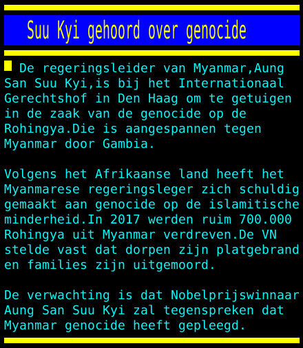test Twitter Media - Suu Kyi gehoord over genocide https://t.co/ONYM6IBzii