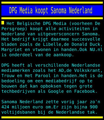 test Twitter Media - DPG Media koopt Sanoma Nederland https://t.co/as13DitP1H