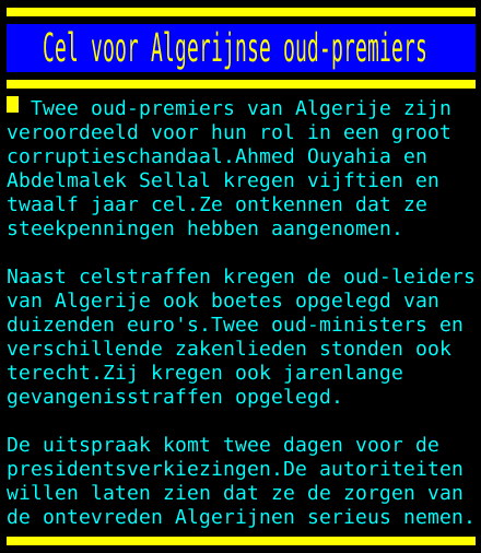 test Twitter Media - Cel voor Algerijnse oud-premiers https://t.co/c5kDf96KKS