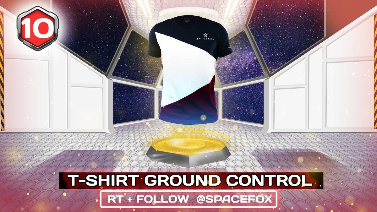 🎁10 décembre : tentez de remporter un T-shirt Ground Control en RT + Follow @Spacefox_shop  Tirage au sort : demain matin