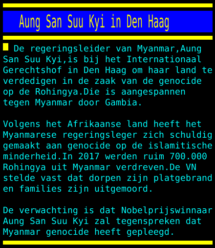 test Twitter Media - Aung San Suu Kyi in Den Haag https://t.co/FVSmukFjq3