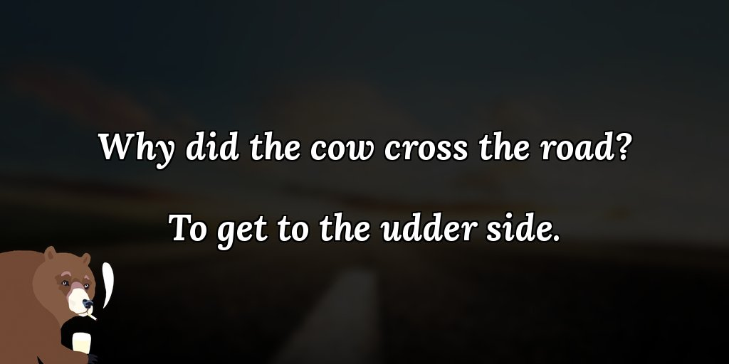 test Twitter Media - Why did the cow cross the road? To get to the udder side. 🙂👋 #joke #badjokes #jokeoftheday https://t.co/IQmu3UeeFY