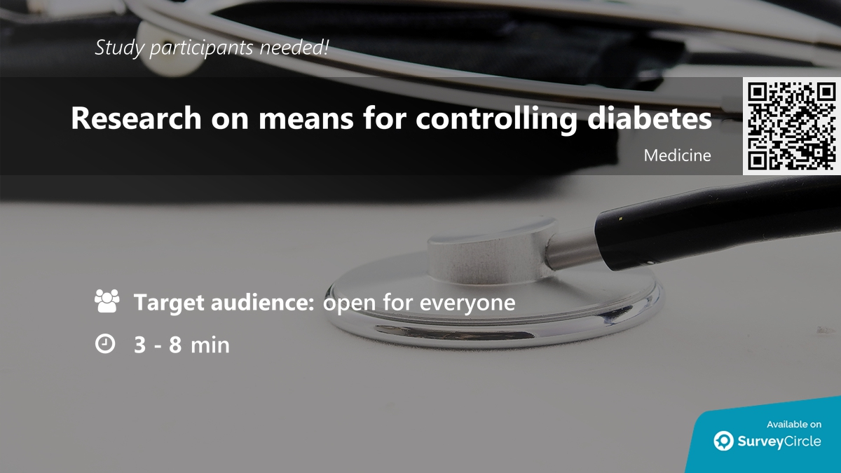 """test Twitter Media - Participants needed for online survey!  Topic: """"Research on means for controlling diabetes"""" https://t.co/HqC7gHi5aW via @SurveyCircle  #diabetes #sugar #glucometer #medical #means #controlling #research #survey #surveycircle https://t.co/NrvFYMp5al"""
