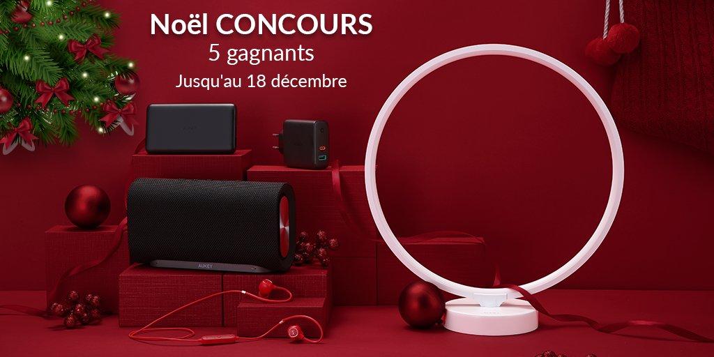 #CONCOURS C'est deja #Noel chez @AukeyFR  😍😍  5 gagnants auront le plaisir de recevoir l'un de ces 5 produits (lien en commentaire )   Pour participer :  ➡️ Follow @AukeyFR + mentionnez un ami + RT  Fin : 18/12/2019 🍀   Bonne chance à tous 🍀  #giveway #cadeau #jeuconcours