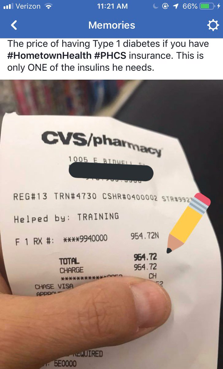 test Twitter Media - I'll never forget paying $954.72 for ONE of the two insulins my husband needs to LIVE, being a #type1 diabetic. We had to put it on a credit card. But what if we didn't have that card?? #prescriptionpricesarearacket https://t.co/wsK8kAwZuw https://t.co/QR1tWaLbGj