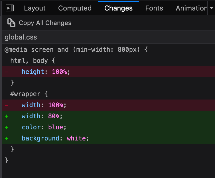 💡 Feedback needed for Changes panel: Do you copy and paste directly from the panel instead of using the export buttons? If so, why?   (We're trying to understand this use case so we can make improvements - either to what is copied, or to the export options) —@violasong https://t.co/oHABWHLnsI