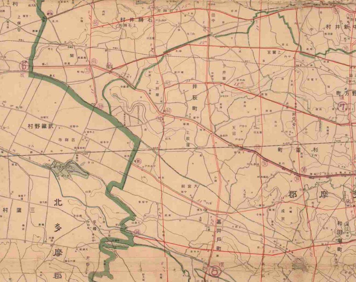 test ツイッターメディア - 復興局が1928年につくった都市計画道路網圖。このときはまだ内田秀五郎の区画整理事業も終わってないはず。 https://t.co/69fHD376G2 https://t.co/JZdrhVS1Mf