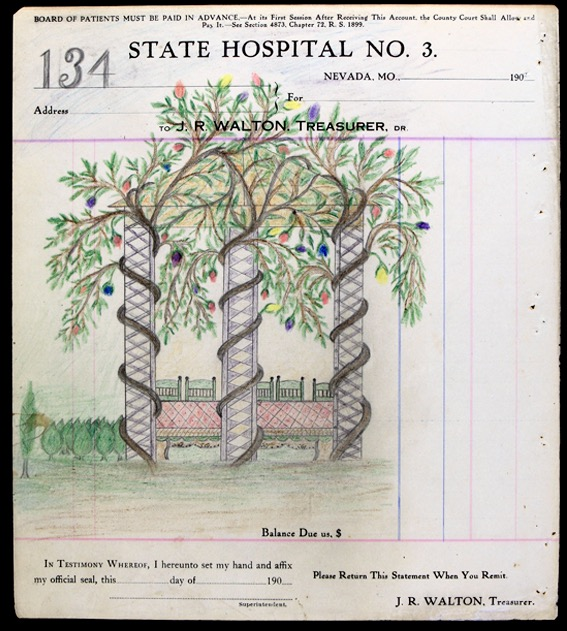 test Twitter Media - In 1970, a kid digging in a town dump in MO found a homemade book containing 100s of these drawings, done in a state hospital for the insane in the early 1900s. The artist called himself the Electric Pencil. His name was James Edward Deeds. His nieces believe he was autistic. https://t.co/SU27cH31hn