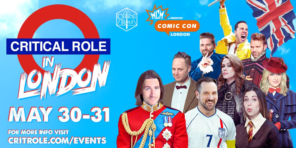 test Twitter Media - Hear ye, hear ye! The entire cast of CR is coming to @MCMComicCon London 2020 - Saturday, May 30th and Sunday, May 31st! Tix for photo ops and autograph sessions will be available via online pre-sale.  For updates: https://t.co/h48JaFBCks  Graphic design by our beloved @ArseQueef https://t.co/hehdPNQbTY