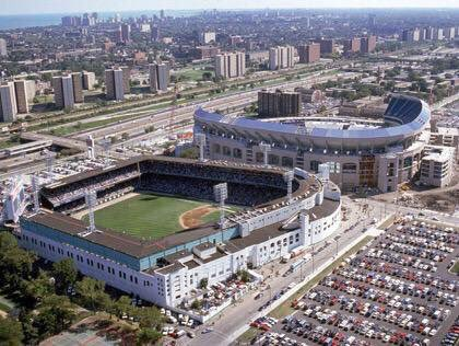 Fun fact. The last row of the upper deck at Comiskey Park was closer to the field than the first row of the upper deck at Guaranteed Rate Field, and yet Comiskey had a higher capacity. #WhiteSox https://t.co/qBTzTAc68k