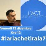 Domani venerdì #13dicembre alle 12 @Depalma_michele sarà all'@Ariachetira, il programma condotto da @myrtamerlino. https://t.co/fb2CMWIjO2