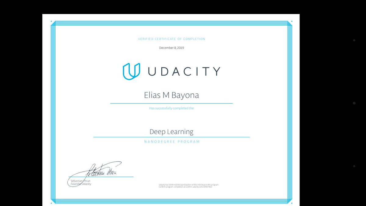 test Twitter Media - 🎆🎇 Finally graduated from Udacity Deeplearning Nanodegree program 🎇🎆  https://t.co/0d1xcM9v6T  #udacitytechscholars #udacity #DeepLearning #PyTorch https://t.co/BJALcVjdKT
