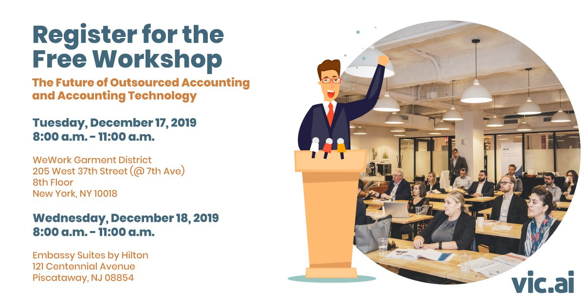 test Twitter Media - Register for the Free Workshop (Sponsored by Vic. ai Academy)  For #CPA and #Outsourced #Accounting Firms  In Greater #NYC #NJ area https://t.co/QIkJ4HWy9M  #Automation driven by #artificialintelligence #AI and #machinelearning is completely changing and disrupting #accounting https://t.co/O1ERFz6UU7