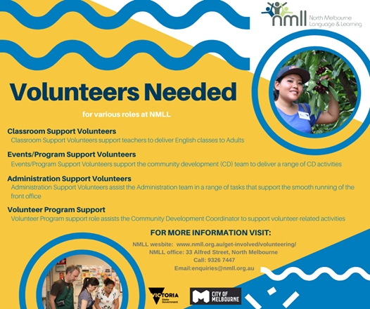 test Twitter Media - Looking to make a meaningful contribution to the North Melbourne community? Our friends at North Melbourne Language and Learning (NMLL) are looking for volunteering for their learning and administrative duties. #northwestmelb  More info: https://t.co/HQ3arTJhX8 https://t.co/P9NmTuLtZO