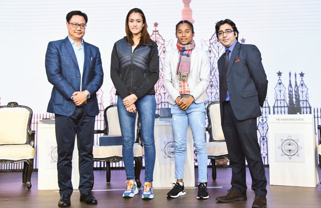"""test Twitter Media - Attended the """"YOUTH PRESIDENTS' ORGANISATION SOUTH ASIA REGIONAL CONFERENCE"""". I spoke about India's Mission Olympics #RoadtoTokyo2020 with our star players @manikabatra_TT and @HimaDas8 https://t.co/K4GhS4K1M1"""