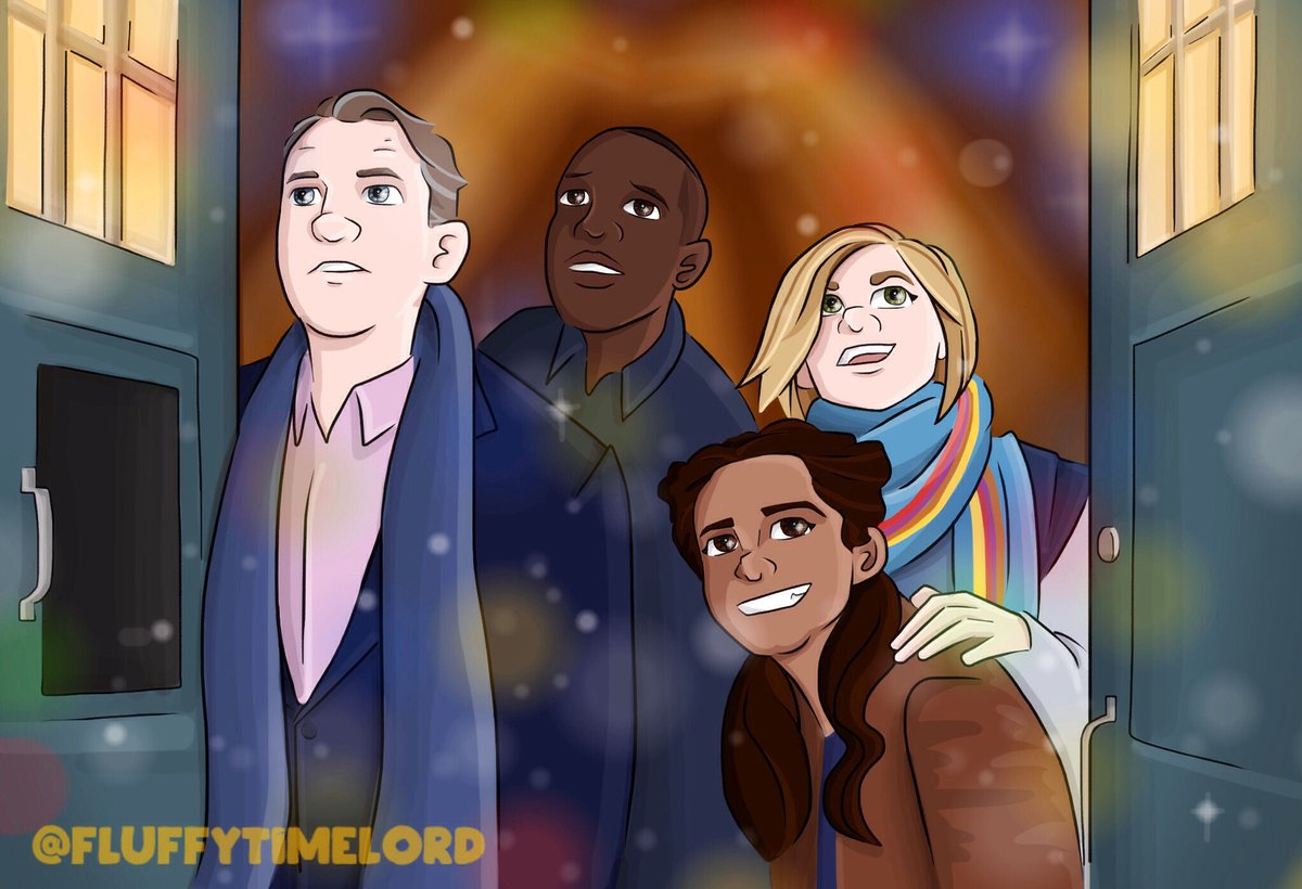 test Twitter Media - @DWComicArt Day Thirteen ❄️ ~ Christmas With Thirteen 🌈 #DoctorWho #AdventCalendar #Christmas #JodieWhittaker #MandipGill #BradleyWalsh #TosinCole https://t.co/LfGCTCClVd