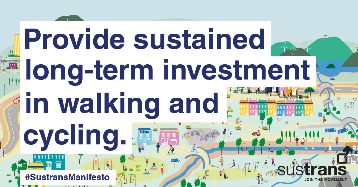 test Twitter Media - Our #GE2019 manifesto called for sustained, long-term investment in #walking and #cycling and a 20-minute neighbourhood design principle, to cut carbon emissions. We will now be taking our asks forward with the new Government: https://t.co/z8Xo5wKgn5 https://t.co/t6zNJBeMby