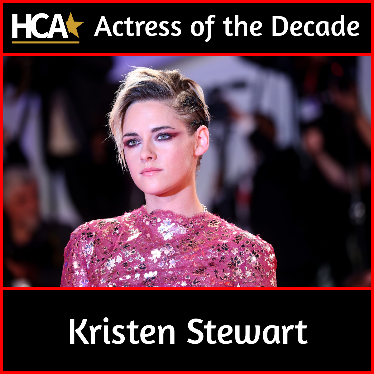 We at the HCA are proud to announce that Kristen Stewart will receive the Actress of the Decade Award at our ceremony on January 9, 2020. Stewart's impressive filmography includes Seberg, Personal Shopper, Clouds of Sils Maria, The Runaways, and Charlie's Angels.  #KristenStewart https://t.co/OYpjKDQD2d