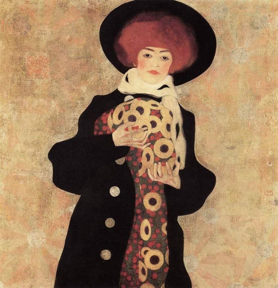 Egon Schiele  Woman with Black Hat | 1909 Private collection https://t.co/dFhfI8MIiq