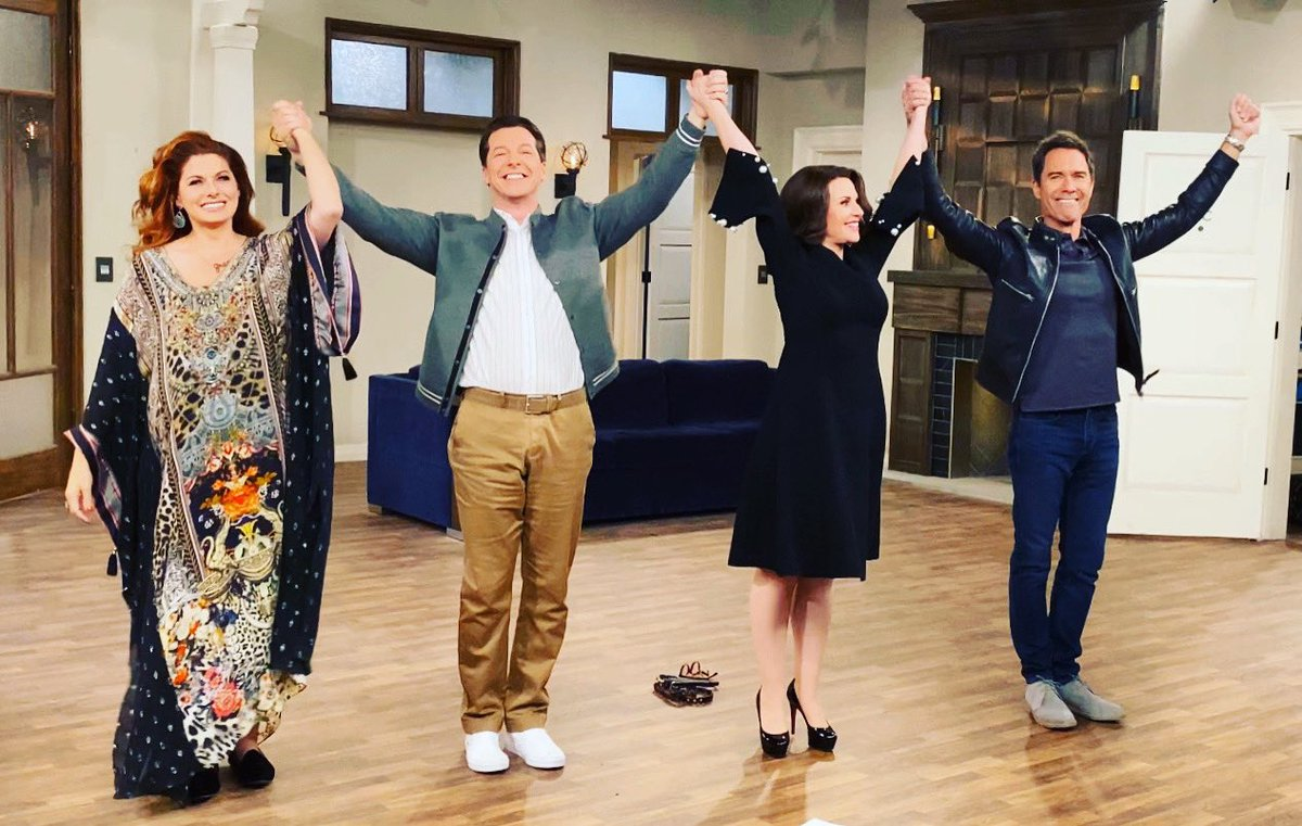 And that's a wrap from Stage 22 on the backlot of Universal Studios.  What a glorious end to an amazing experience.  Thanks to all of the fans. This was all for you. ❤️ #WillandGrace