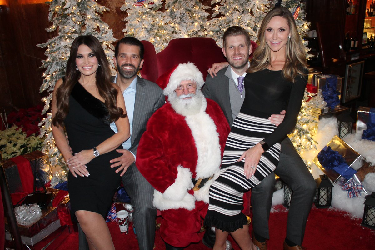 Look who decided to make a surprise appearance at the @Trump Christmas Party this year 🎅 #Santa @TrumpTower