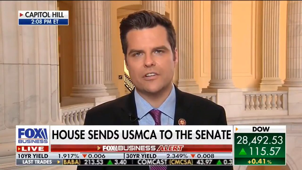 .@SpeakerPelosi is trying to take credit for the passage of the USMCA even though it was @POTUS who delivered for the American people.  Pelosi taking credit for the USMCA is like @JoeBiden taking credit for all those speeches he plagiarized the last few times he ran for president