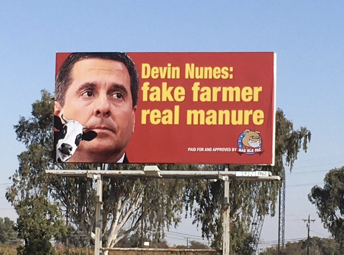 Sent out a $5000 payment this morning for our new #Nunes billboard going up Jan 3, and for rent on the existing one. We are getting under his skin. He must be removed. We need your support. Merry Christmas and thank you all! 🎁