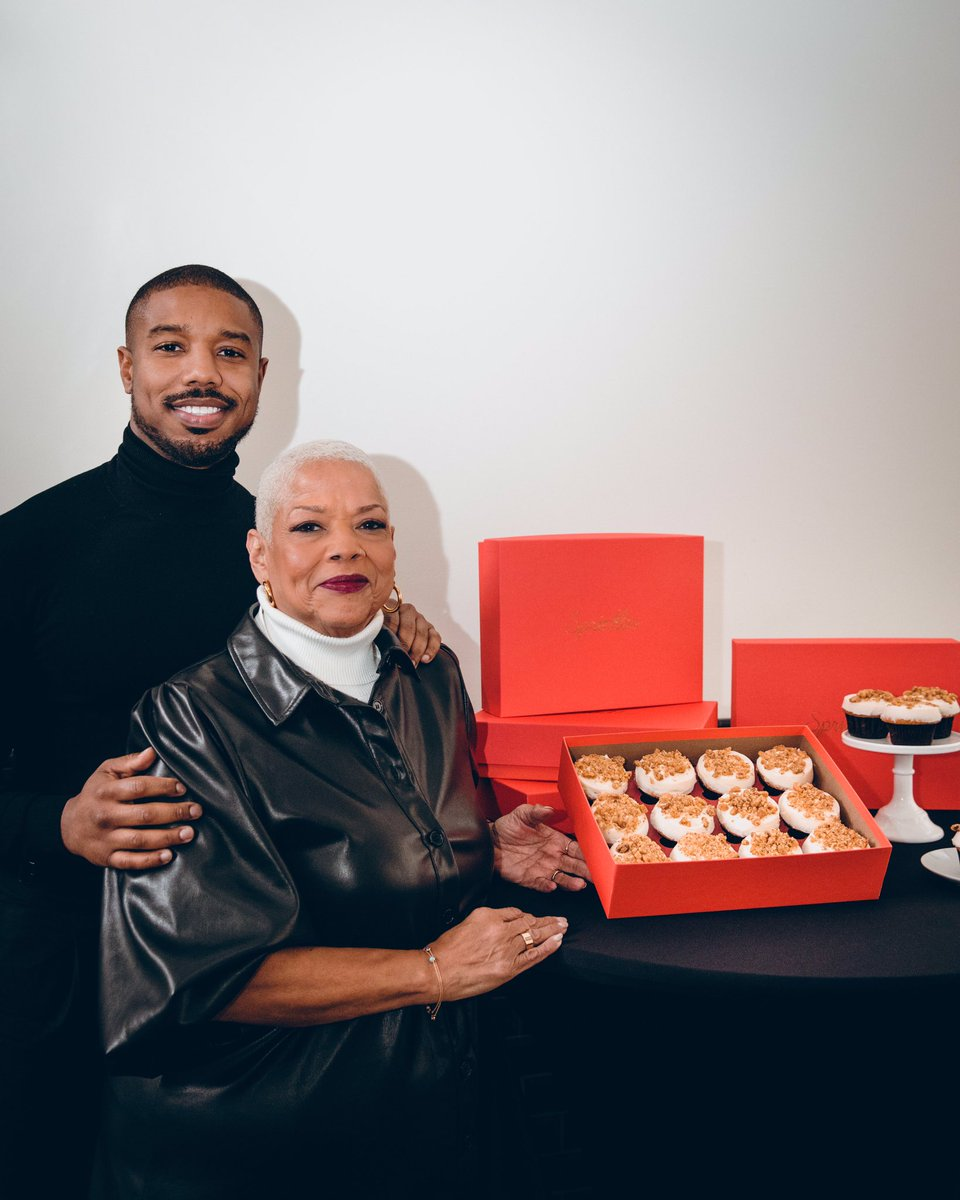 Thanks Mama Jordan! We are so proud to spread the message about Lupus through a sweet medium. You are an artists, you are a survivor, you are a gamechanger and we are grateful for you!  One week left to enjoy Rum Cake cupcake, baking until 12/29  @LupusLA @michaelb4jordan