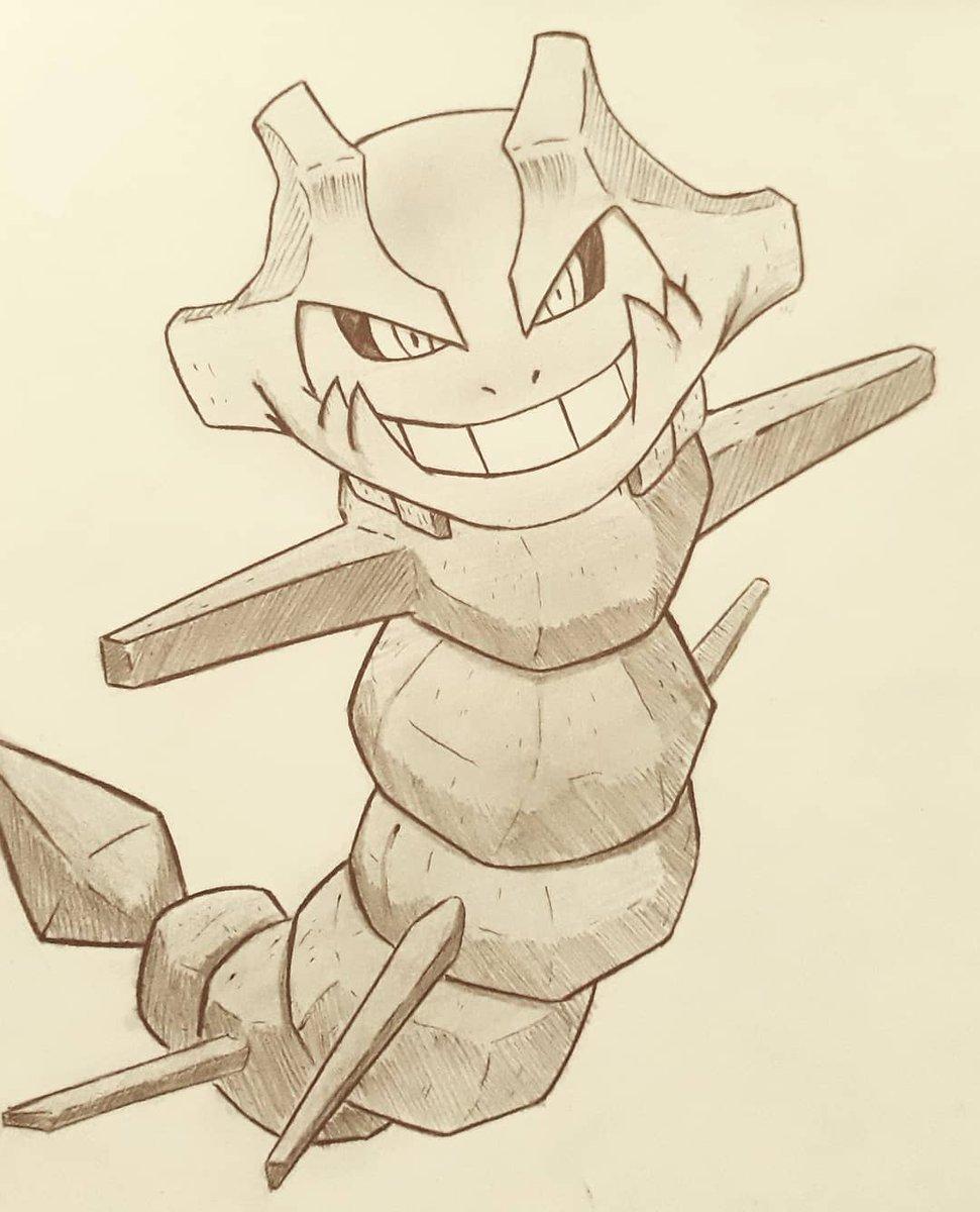 18- Favorite Steel type: Steelix🔗  #Inktober #pokemon #poketober