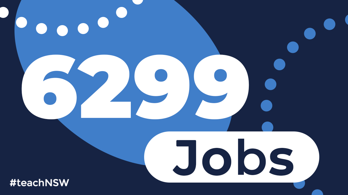 We advertised 6,299 jobs in 2019 - make sure you're signed up for JobFeed to hear all about the new job opportunities in NSW public schools in 2020. Sign up at: https://t.co/MWPYuEKQen.  #teachNSW #JobFeed #teachandmakeadifference #greatplacetowork https://t.co/tMkL5tnbsP