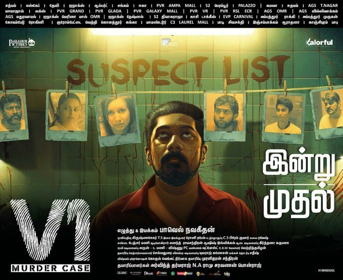 #V1fromtoday fabulous investigation thriller will keep u engaged with an unexpected n amazing climax. Much needed film. Pls do watch n support. Amazingly done by @Pavelnavagethan bro wishing the team a huge success. Waiting for ur next one ❤️ @LijeeshActor @linga_offcl super da